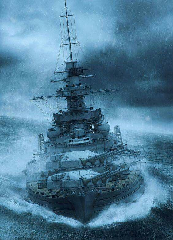 Battlecruiser or Battleship Gneisenau, looks like a.....