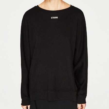 Sparkle Velvet Puff, T-Shirt Manches Longues Femme, Noir (Black 1), 40New Look
