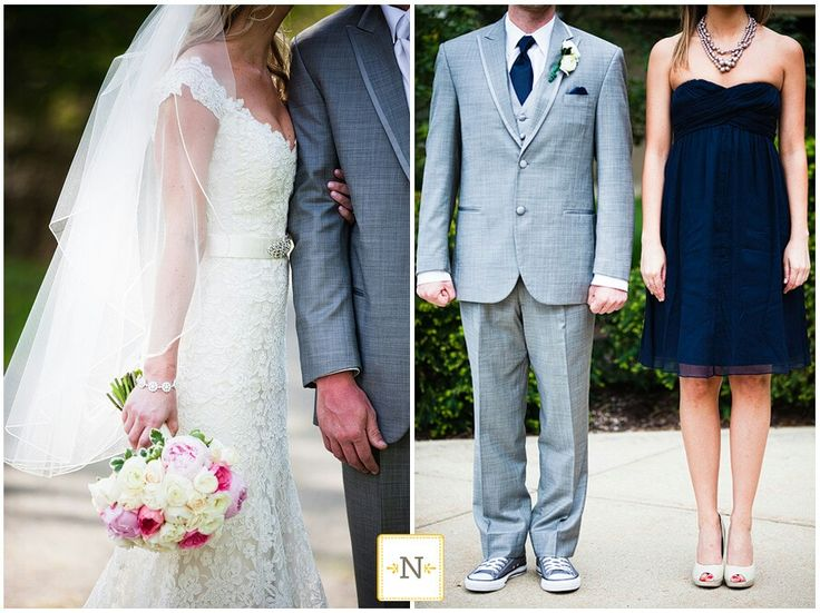 Navy grey wedding. i also like this picture