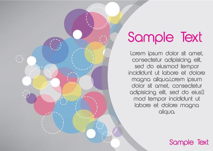 Free Vector Design > Circles card design