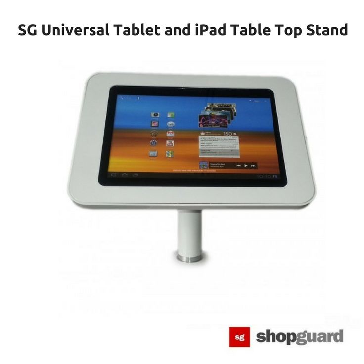 Table Top Tablet & iPad Security Display SG Tablet Enclosure can be mounted on countertops, walls, merchandising displays and accommodates a variety of digital devices. Regardless of the nature of your business, regardless of your waiting room or any other public area, there is an ideal SG Tablet or iPad Kiosk Solution for you