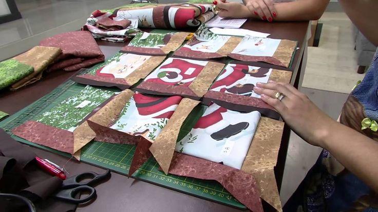 Mulher.com 12/09/2014 - Painel Natalino Patchwork Janela por Camila Mart...