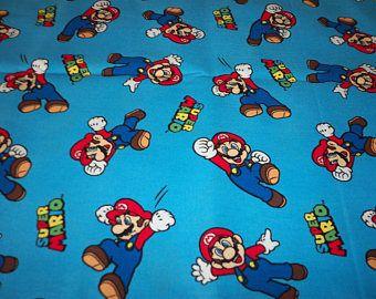 Super Mario tissu de coton très belle enfants amusant par Fat Quarter BTFQ neuf