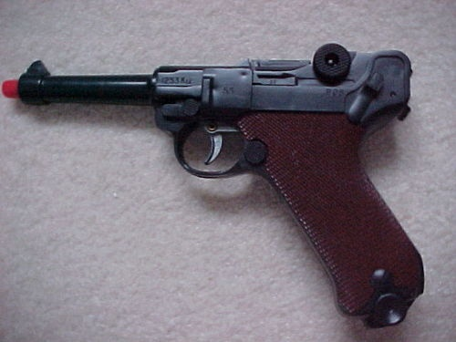 Vintage 1960 S Marx Toy P08 German Luger Cap Gun Ebay