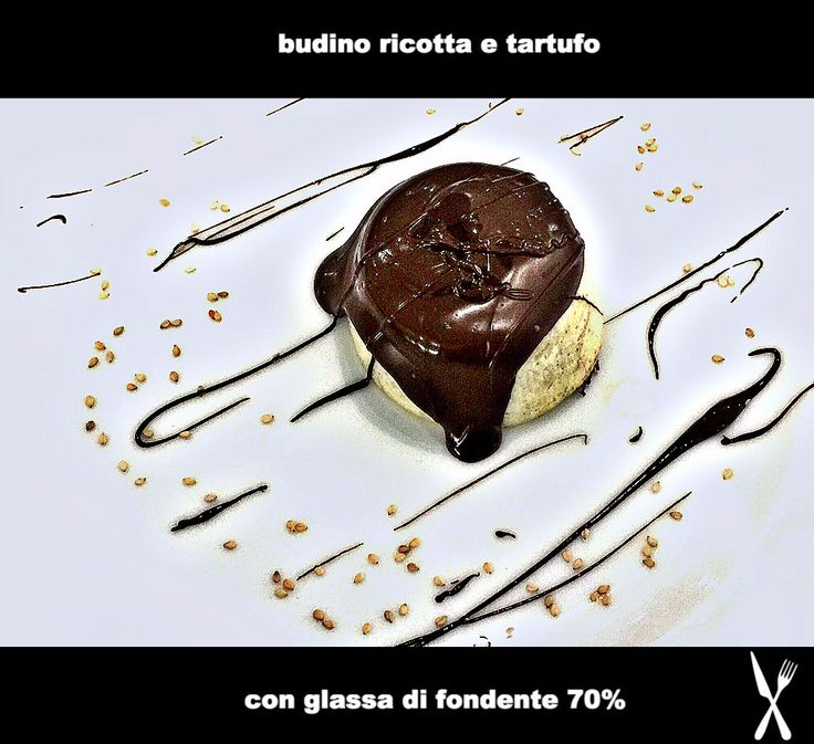 Budino ricotta e tartufo con glassa di fondente al 70%  #love #tartufo #lafabbricadeltartufo #foodporn