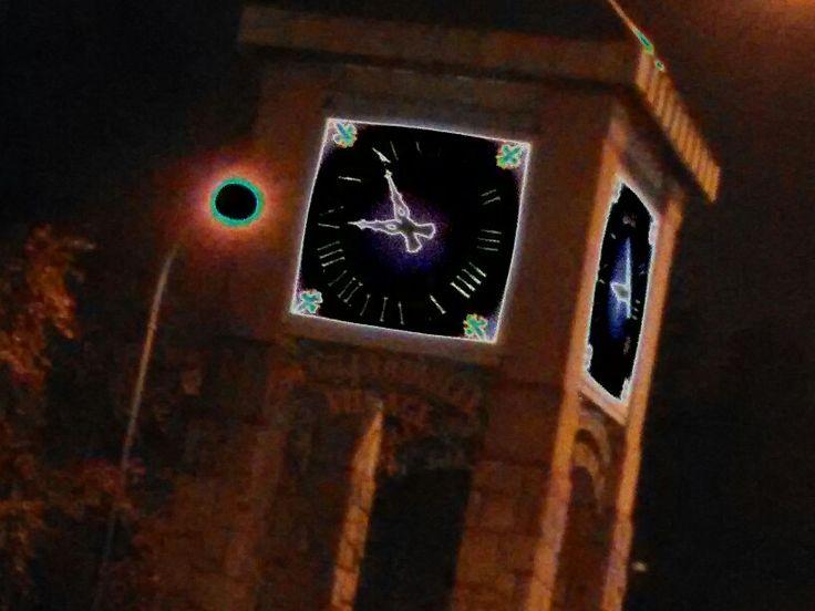 The clock in Coquitlam