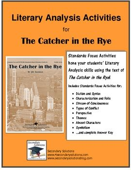 literary analysis of the novel the catcher in the rye The struggles of holden caulfield in the novel, the catcher in the rye by jd salinger 888 words 2 pages a literary analysis of the catcher in the rye by j d salinger 510 words.