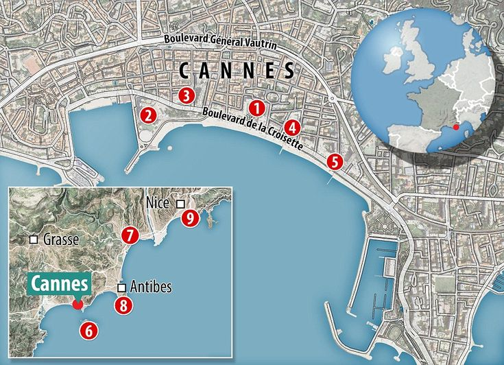 MailOnline Travel's top Cannes and the surrounds recommendations: 1. Grand Hotel 2. Martin...