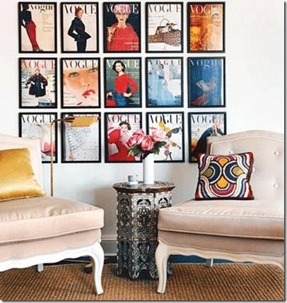 Framed Vogue Covers