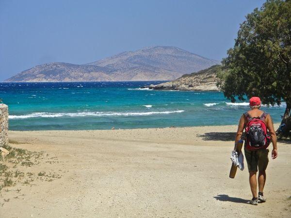 Walking to the beach