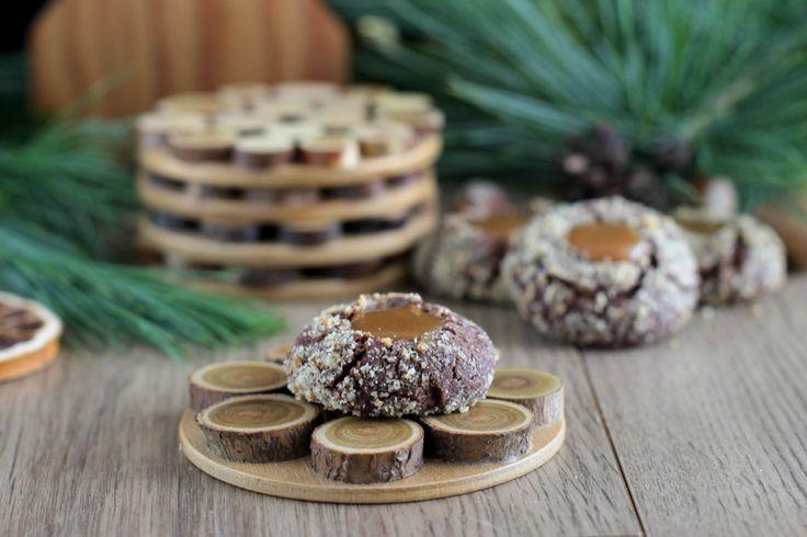 """Сладко, шоколадно и празднично! Шоколадное печенье «Поцелуйчики» с конфетами """"Коровка"""""""