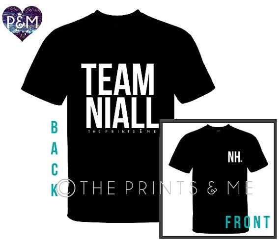 TEAM NIALL  Niall Horan Shirt  One Direction by ThePrintsandMeShop