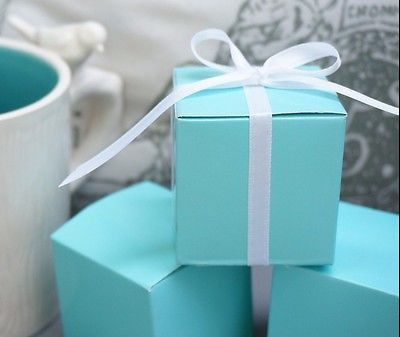 10 Robin Egg Blue Mint Aqua Blue Wedding Favor Gift Boxes Baby Shower Turquoise