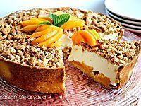 Crostata cheesecake alle pesche   cheesecake fredda