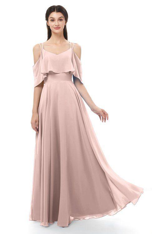 42015d363517 ColsBM Jamie Dusty Rose Bridesmaid Dresses Floor Length Pleated V-neck Half  Backless A-line Modern