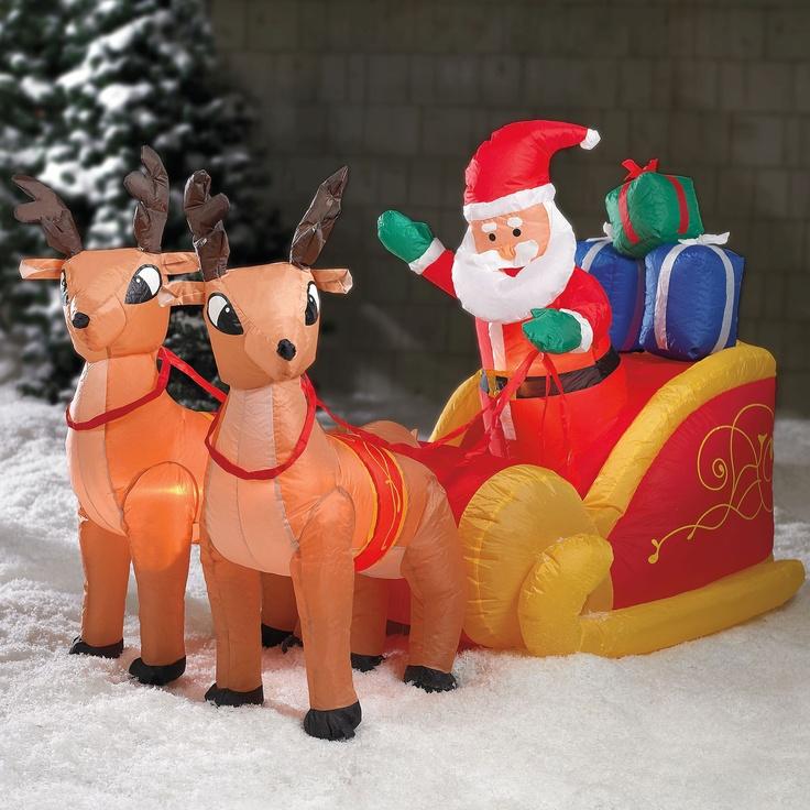 61 best Santa Sleigh and Reindeer Outdoor Decoration ...