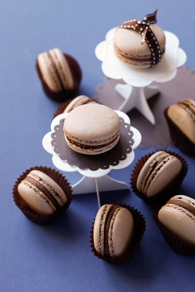 Chocolate Macarons with Chocolate Ganache