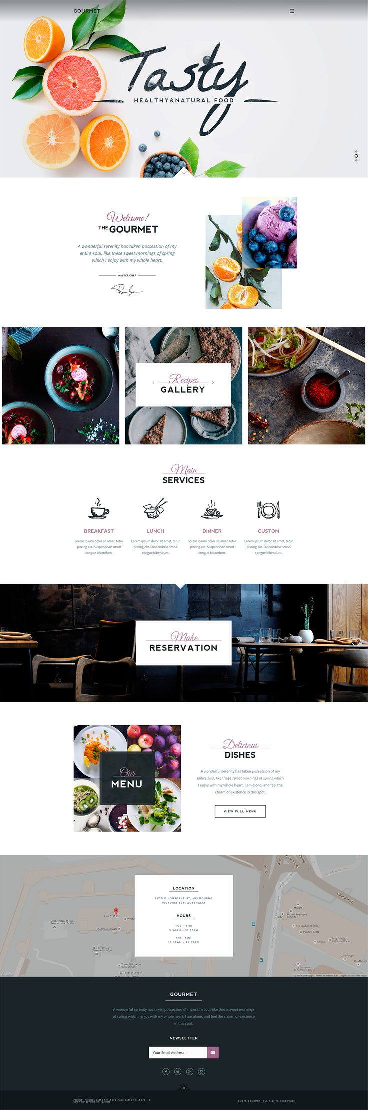 Gourmet - Restaurant & Cafe WordPress Theme #website #theme #wp #wordpress #theme #web #restaurant #cafe #food