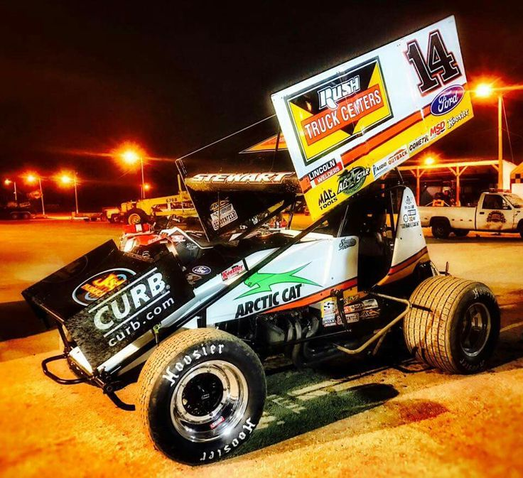 """Tony """"Smoke"""" Stewart. His 2017 Winged Sprint Car. In the Craftsman World of Outlaws Series"""