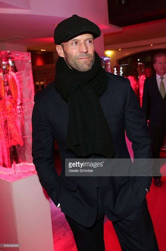 Jason Statham during the 'Hummer Party' at hotel 'Kitzhof' on January 23, 2016 in Kitzbuehel, Austria.