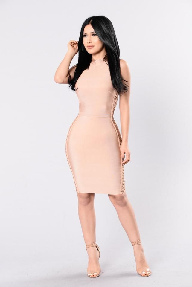 Versilla Bandage Dress - Nude