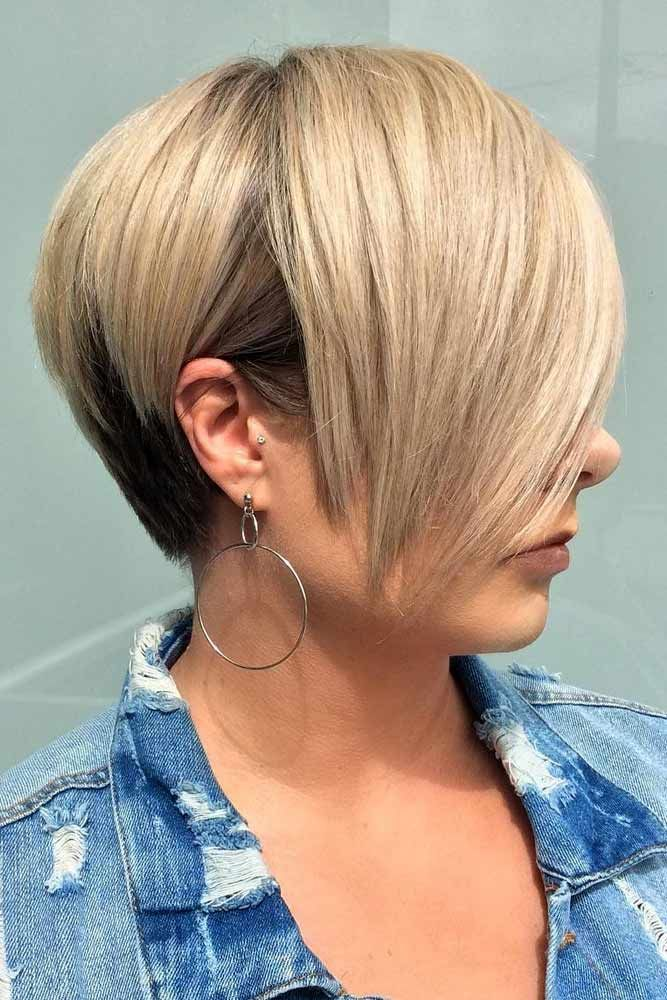 Stacked Wedge With Chic Fringe #wedgehaircut #haircuts ❤️Der Keilhaarschnitt