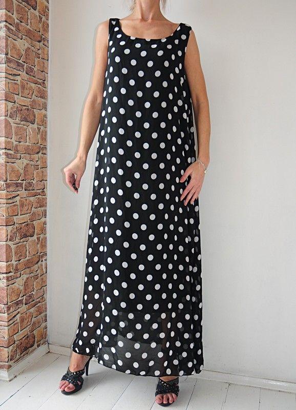 dddcdf6fee Ruiyge sukienka czarna w groszki METKA 44   46 - Vinted