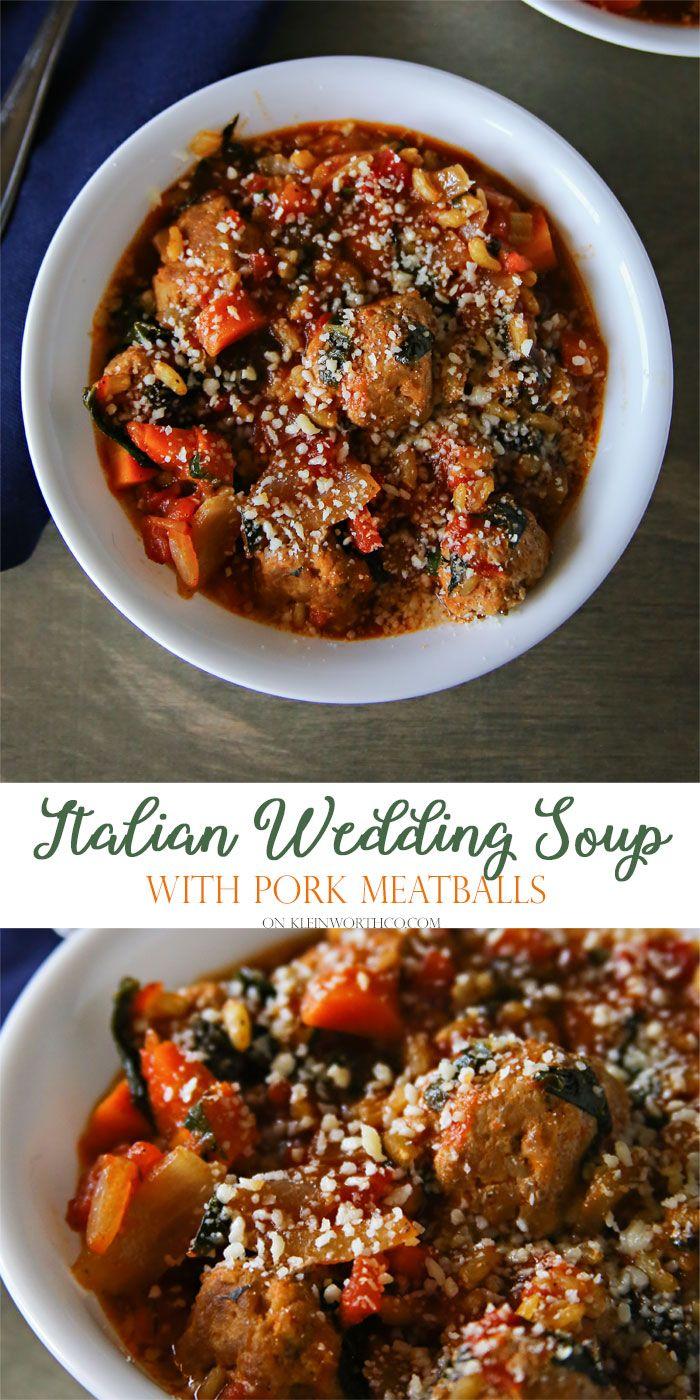 Blue apron halal - Italian Wedding Soup With Pork Meatballs Called Minestrablueapron