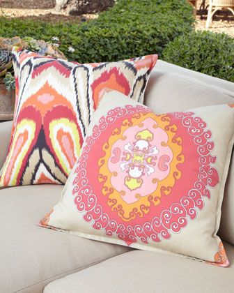 Flanged Pillows by Trina Turk at Horchow.