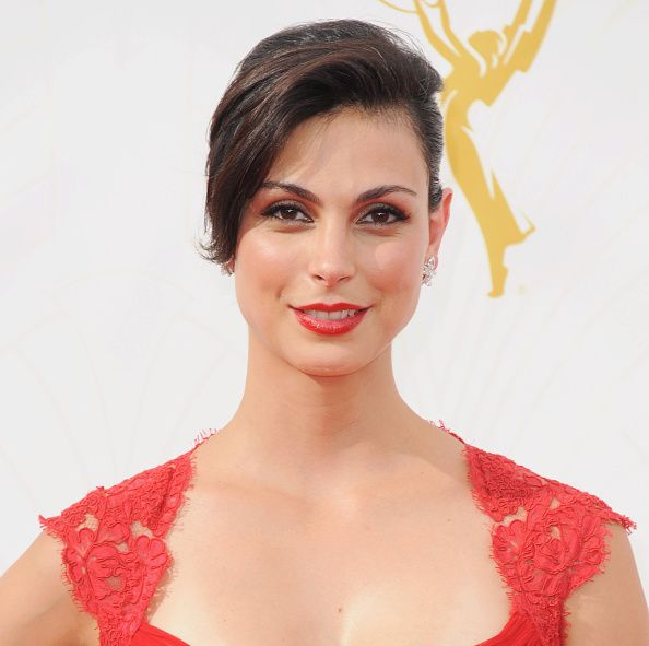 Actress Morena Baccarin arrives at the 67th Annual Primetime Emmy Awards at Microsoft Theater on September 20 2015 in Los Angeles California
