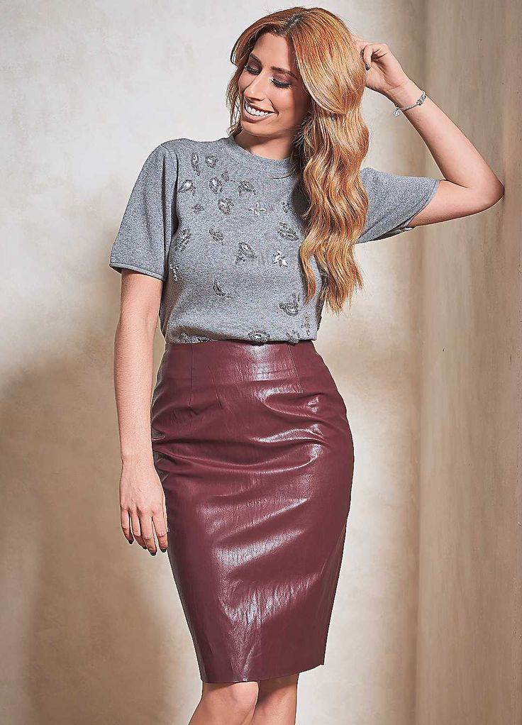 PU Pencil Skirt by Stacey Solomon