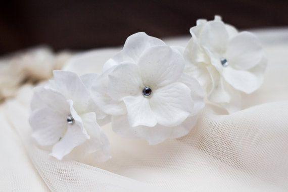 White Baby Headband White Flower Headband Baptism by LaceyLime