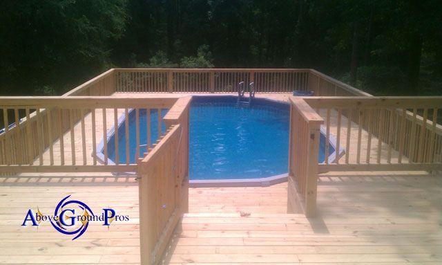Oval Surround Deck In 2019 Pool Deck Plans Above Ground