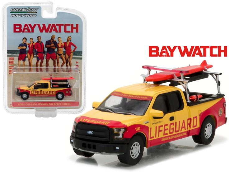 "2016 Ford F-150 Emerald Bay Beach Patrol ""Baywatch"" Movie (2017 ) 1/64 Diecast Model Car by Greenlight - Brand new 1:64 scale car model of 2016 Ford F-150 Emerald Bay Beach Patrol ""Baywatch"" Movie (2017 ) die cast model car by Greenlight. Limited Edition. Has Rubber Tires. Comes in a blister pack. Detailed Interior, Exterior. Metal Body and Chassis. Officially Licensed Product. Dimensions Approximately L-2.75 Inches Long.-Weight: 1. Height: 5. Width: 9. Box Weight: 1. Box Width: 9. Box…"