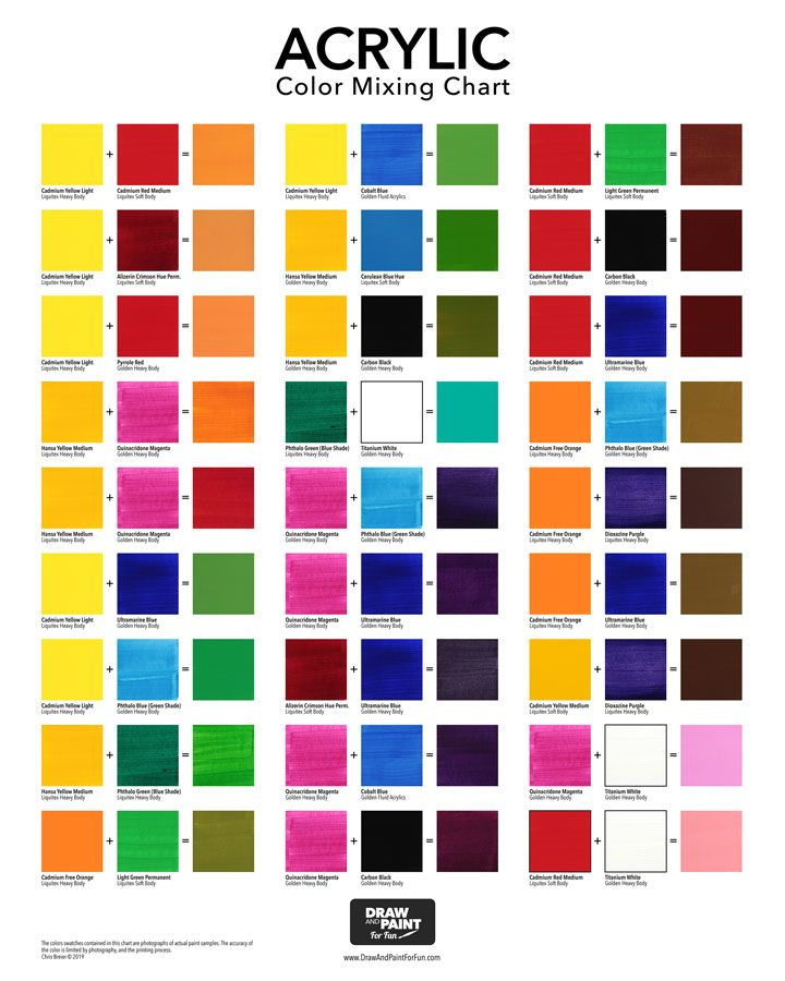 Acrylic Color Mixing Chart Free Pdf Download Color Mixing Chart