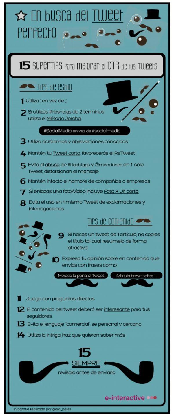 15 consejos para lograr el Tweet Perfecto