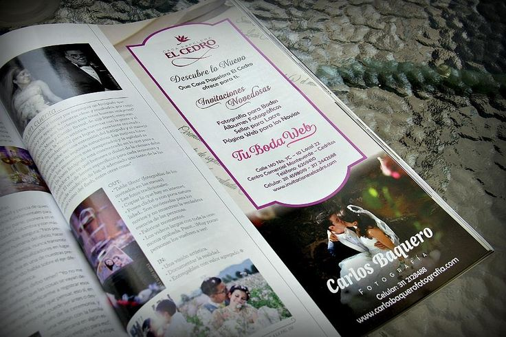 Ahora nos pueden encontrar en la reciente publicación de la revista Aló Novias