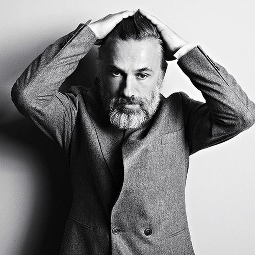 Christoph Waltz. he was soooo bad in 'inglorious basterds'. but i love him as an actor. pretty cute too, especially w/ this beard. LOVE a man w/ a beard.