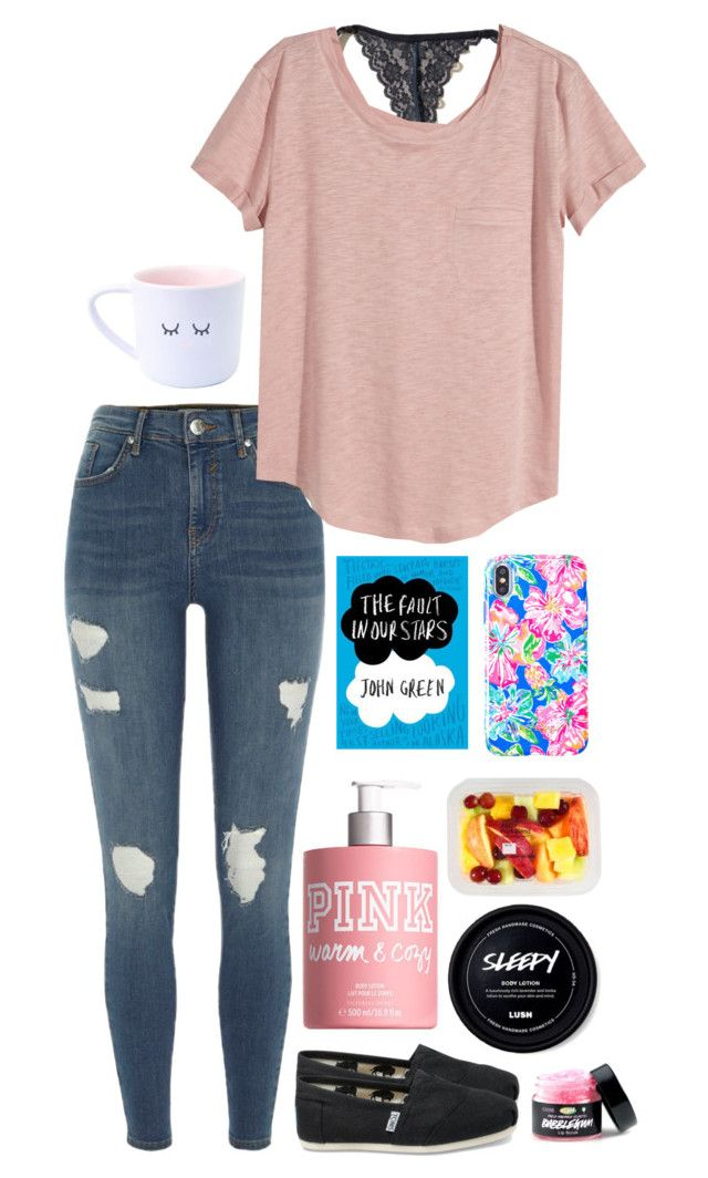 """""""Check tag in D"""" by kindaval ❤ liked on Polyvore featuring Lilly Pulitzer, Nook, Victoria's Secret, River Island, Hollister Co., H&M, TOMS and country"""