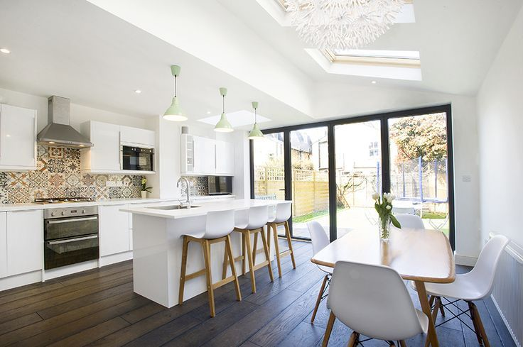 Telegraph Hill, SE14, London, Home Extensions, Side Return Extension, Kitchen Extension, Ground Floor Flat Extension, Sliding Doors, Kitchen, Rear Extension, Roof-lights, Pitched Roof, Side Return Ideas, Kitchen Extension Ideas, Dining Area Ideas, Living
