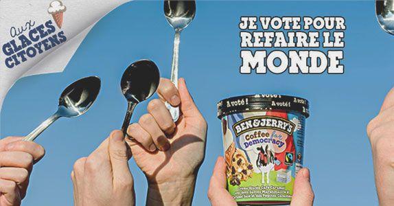Ben & Jerrys lance une campagne marketing pour la démocratie