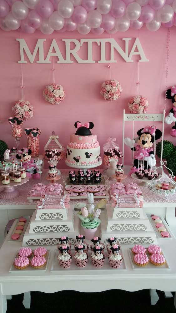 Gorgeous Minnie Mouse birthday party! See more party planning ideas at CatchMyParty.com!