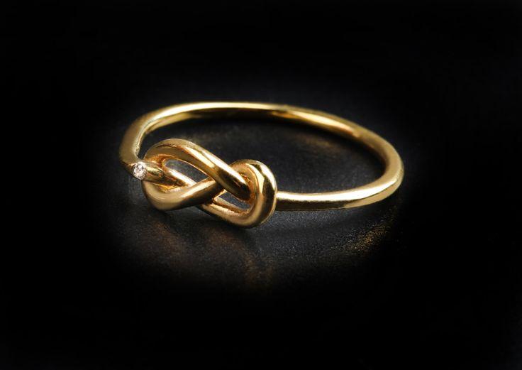 RingKnot di diamanti anello in anello di solido nodo oro 9k, 14k e oro 18k anello gioielli di nozze anello di nodo rosa anello di amicizia anello damigella d'onore di fattoamanou su Etsy
