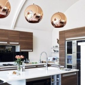 lampadario magda : Love this kitchen. the light fixtures are gorgeous. Designed in 1968 ...