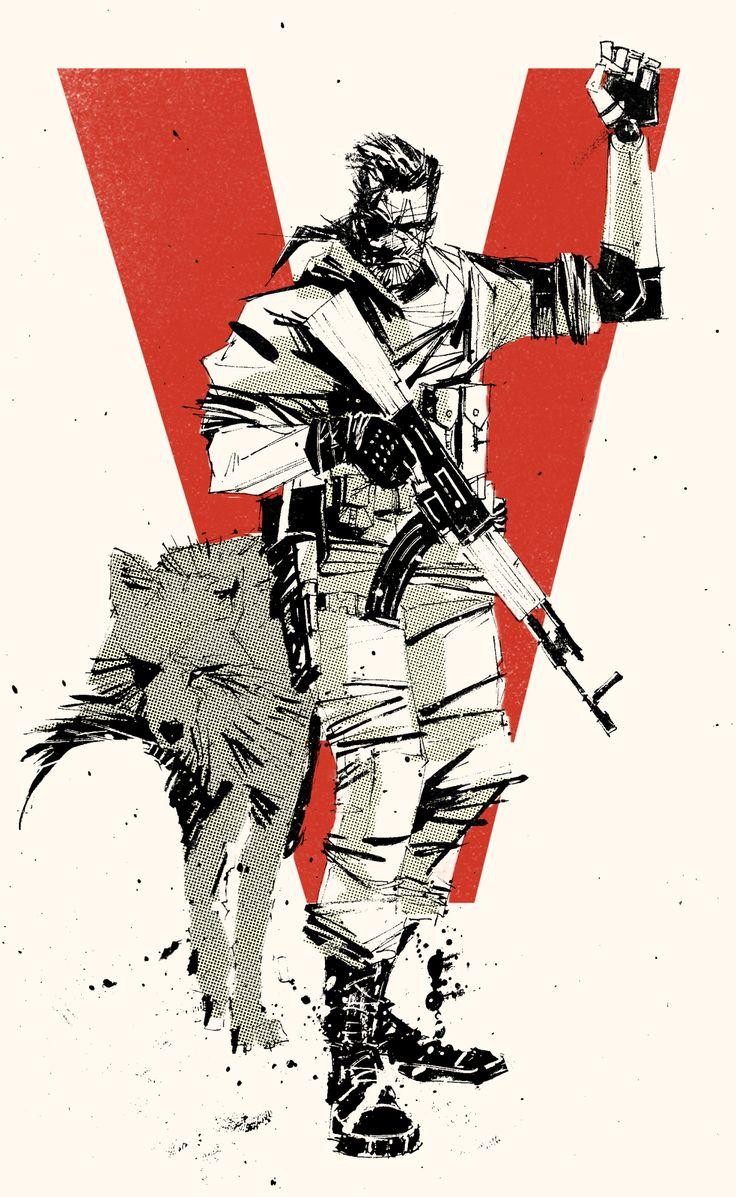"Punished ""Venom"" Snake and DD, Metal Gear SOlid V: The Phantom Pain"