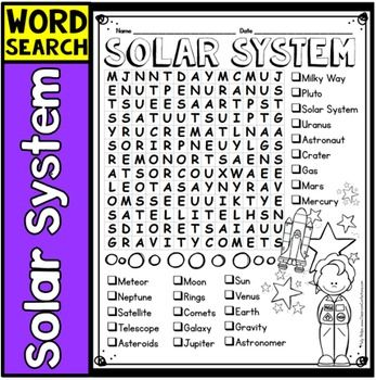 Solar System Word Search Activity  sc 1 st  Pinterest & 478 best Space Unit images on Pinterest | Solar system Planets ... 25forcollege.com