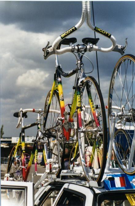 Greg LeMond's time trial bike at the 1990 Tour de France