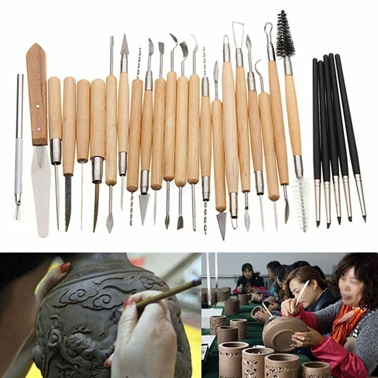 27PCS Flexible Silicone Rubber Shapers Clay Sculpting Fimo Modelling Hobby Tools #UnbrandedGeneric