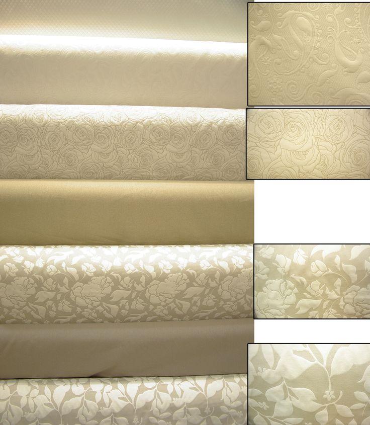 Piqué de coton et polyester, toile 100% lin / lin et coton en 2m80 de large.