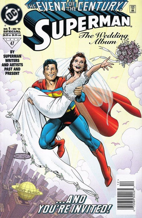 Superman Wedding Album #1, December 1996, cover by John Byrne (Perfect invite card cover!)